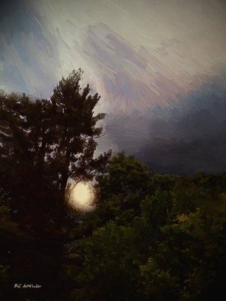 Painting - Misty Moonrise by RC DeWinter