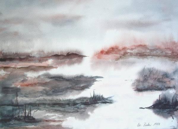 Painting - Misty Moorlands In Pastel by Joy of Life Art Gallery