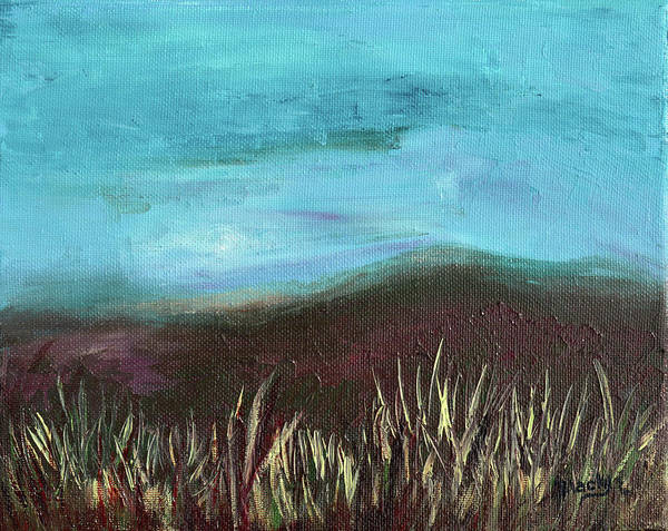 Wall Art - Painting - Misty Moors by Donna Blackhall