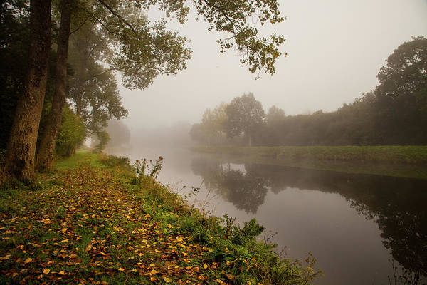 Wall Art - Photograph - Misty Morning Along A French River by W Chris Fooshee