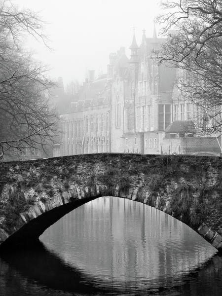 Photograph - Misty Morning Canal In Bruges by Barry O Carroll