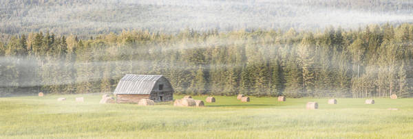 Photograph - Misty Morning Haybales by Patti Deters