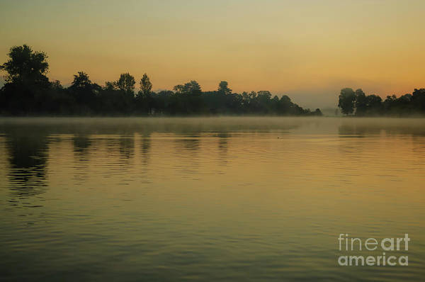 Photograph - Misty Morning Lake by Paul Warburton