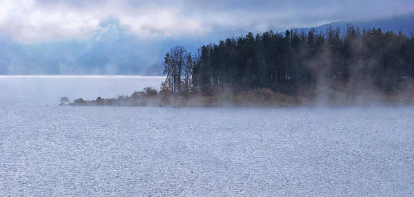 Lake Granby Wall Art - Photograph - Misty Morning Lakefront by Brian Kerls