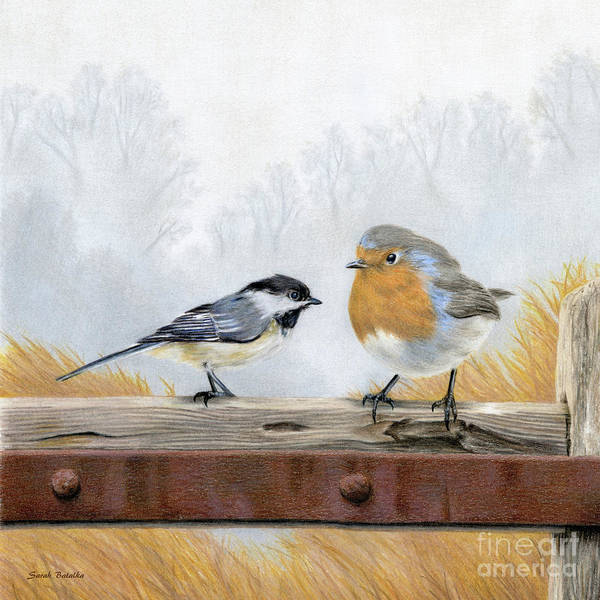 Wall Art - Painting - Feathered Friends by Sarah Batalka