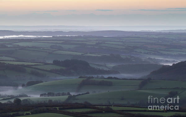 Misty Morning On Exmoor  Art Print