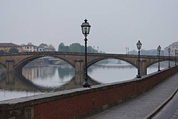 Photograph - Misty Morning On The Arno by Patricia Strand