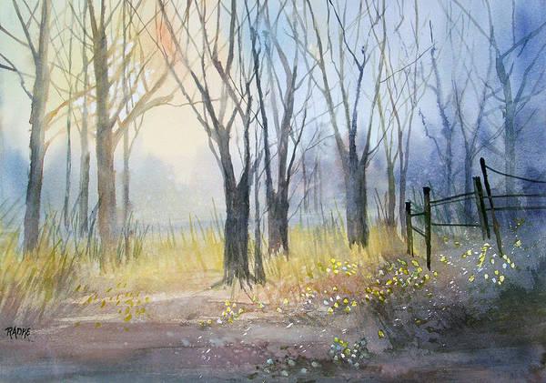 Wall Art - Painting - Misty Morning by Ryan Radke