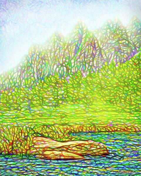Digital Art - Misty Mountain Bliss by Joel Bruce Wallach