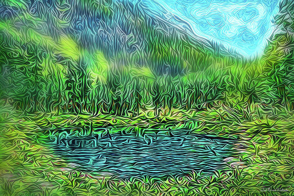 Digital Art - Misty Mountain Lake by Joel Bruce Wallach