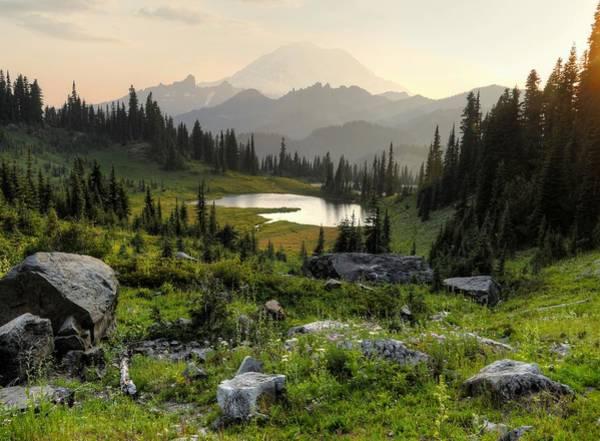 Wall Art - Photograph - Misty Mountain Landscape by Peter Mooyman