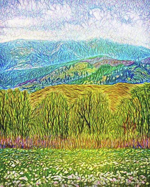 Digital Art - Misty Mountain Meadow by Joel Bruce Wallach