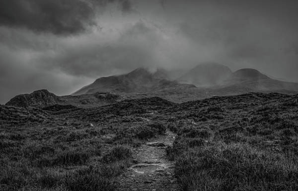 Photograph - Misty Mountains Bw #g8 by Leif Sohlman