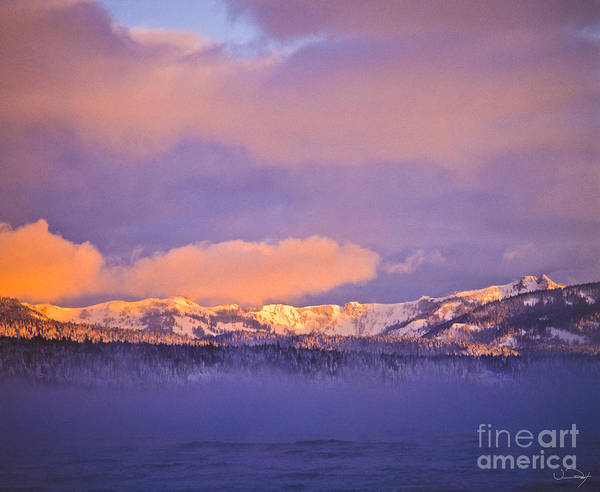 Wall Art - Photograph - Misty Mountains Lake Tahoe by Vance Fox