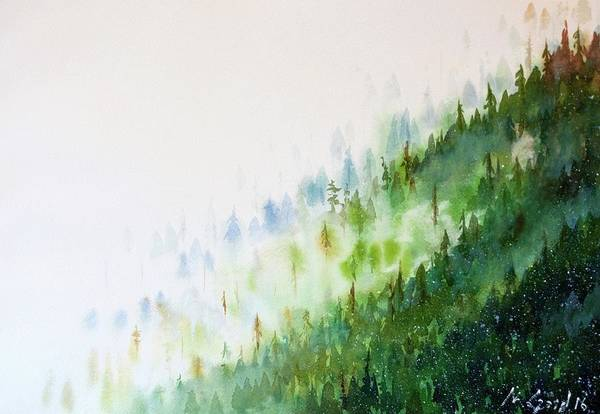 Wall Art - Painting - Misty Mountains by Max Good