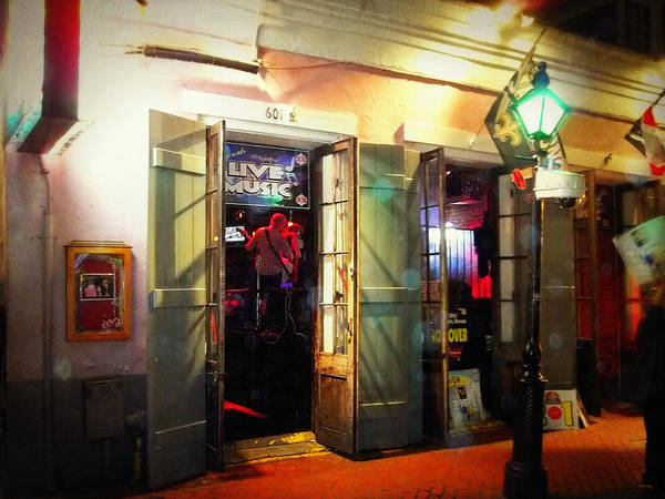 Photograph - Misty Night On Bourbon Street - New Orleans by Glenn McCarthy Art and Photography