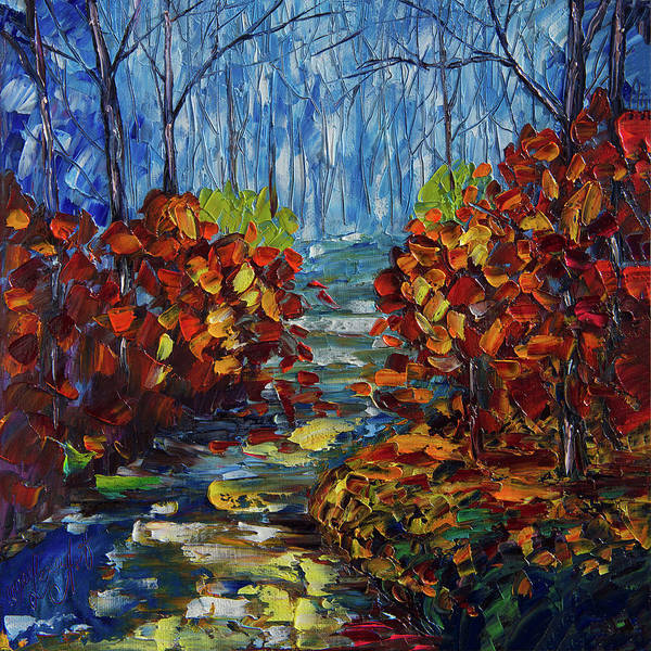 Painting - Misty Path by OLena Art - Lena Owens