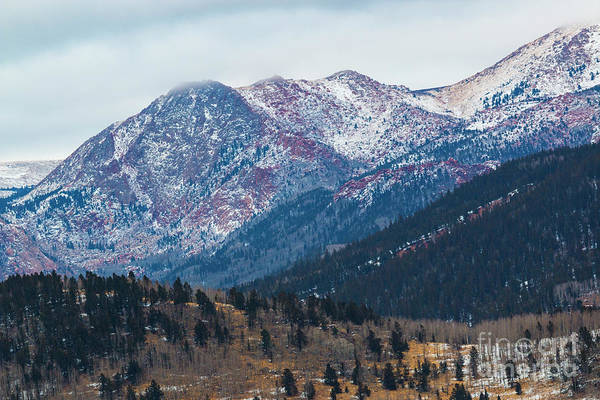 Photograph - Misty Pikes Peak Winter by Steve Krull