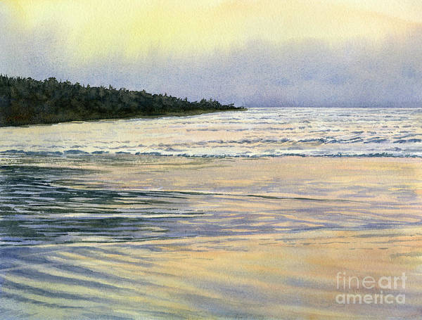 Wall Art - Painting - Misty Reflections At Low Tide by Sharon Freeman