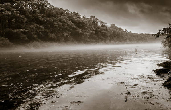 Misty River Art Print