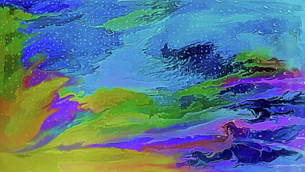 Digital Art - Misty Sierra Abstract by OLena Art - Lena Owens