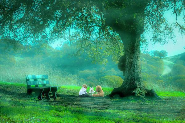 Park Bench Digital Art - Misty Spring by Michael Ertem