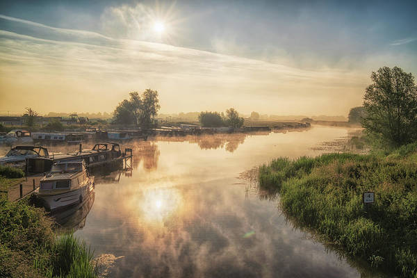 Photograph - Misty Summer Sunrise by James Billings