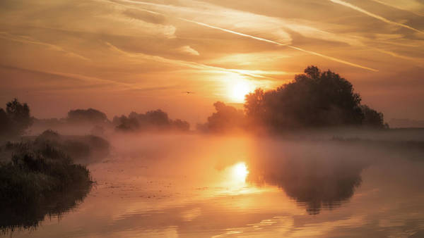 Photograph - Misty Sunrise On The Ouse by James Billings