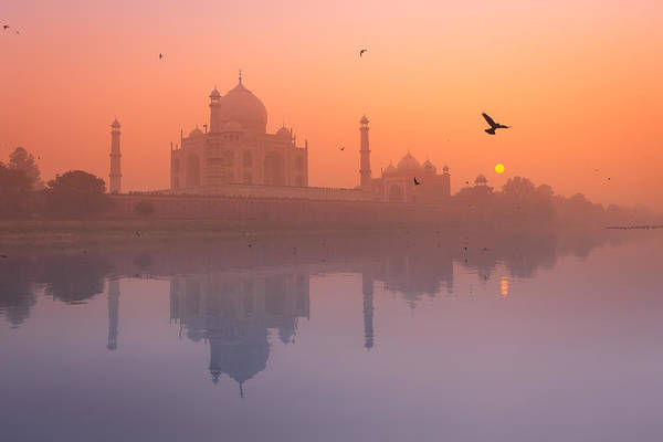 Northern India Photograph - Misty Sunset by Marji Lang