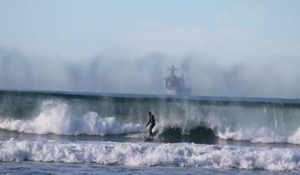 Photograph - Misty Surf by Christy Pooschke
