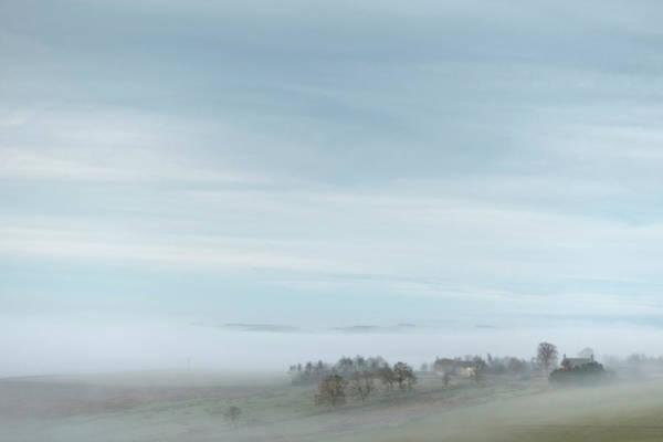 Moorland Photograph - Misty Valley by Richard Nixon