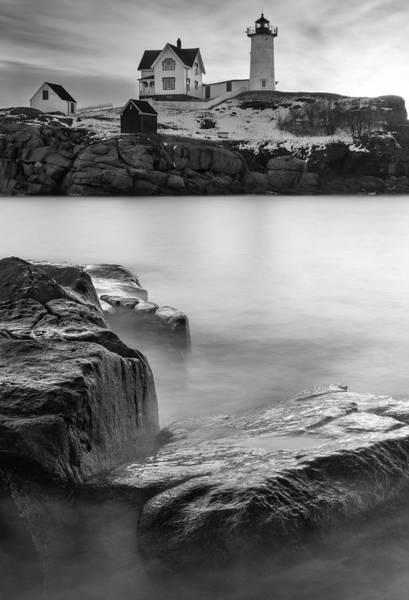 Photograph - Misty Waves At Cape Neddick by Kristen Wilkinson