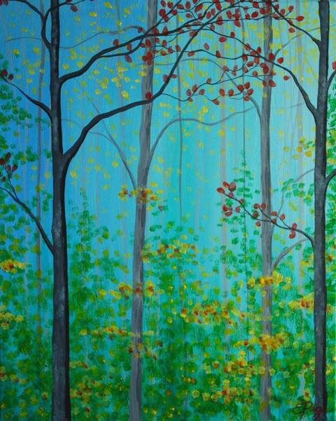 Painting - Misty Woods by Emily Page