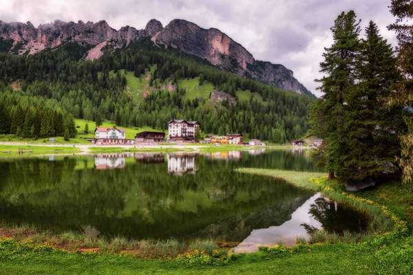 Photograph - Misurina Lake In The Dolomites, Italy by Nico Trinkhaus