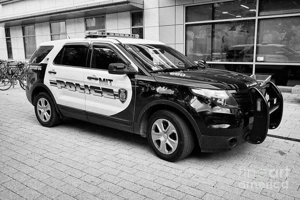Wall Art - Photograph - Mit University Campus Police Patrol Vehicle Boston Usa by Joe Fox