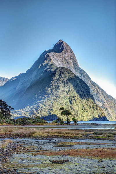 Photograph - Mitre Peak At Low Tide by Gary Eason