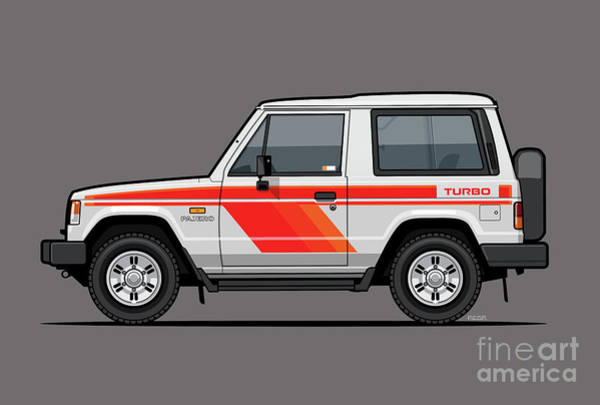 Wall Art - Digital Art - Mitsubishi Pajero Montero Shogun 3 Door Turbo Diesel by Monkey Crisis On Mars