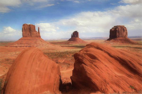 Navajo Indian Reservation Photograph - Mitten Buttes At Monument Valley by Donna Kennedy