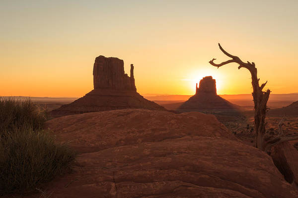 Monument Valley Navajo Tribal Park Wall Art - Photograph - Mittens Sunrise by Johnny Adolphson