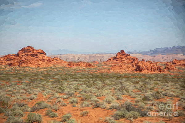 Valley Of Fire State Park Digital Art - Mix Media Valley Of Fire  by Chuck Kuhn