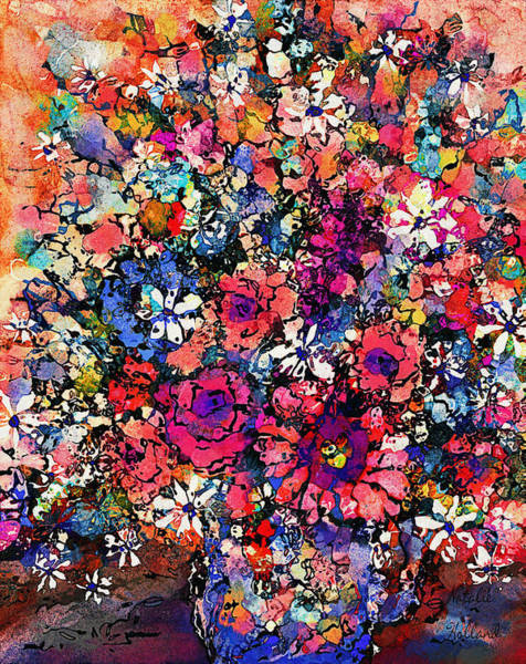 Snapdragons Painting - Mixed Flowers by Natalie Holland