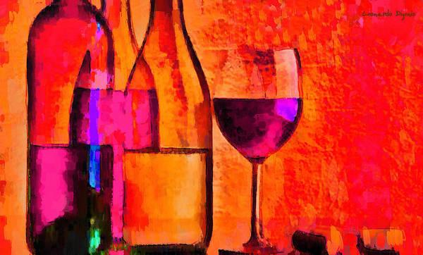 Cellar Digital Art - Mixing All Red-orange - Da by Leonardo Digenio