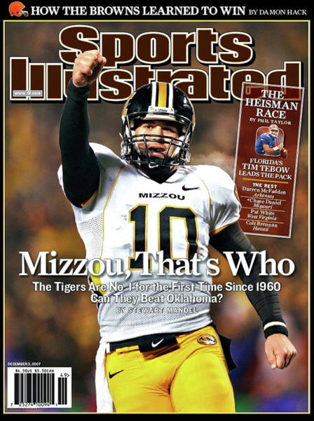Columns Mixed Media - Mizzou That's Who, Sports Illustrated, Chase Daniel by Thomas Pollart