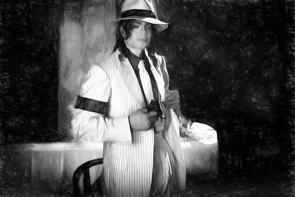 Michael Jackson Photograph - M J Chicago Gangster Scene by Donna Kennedy