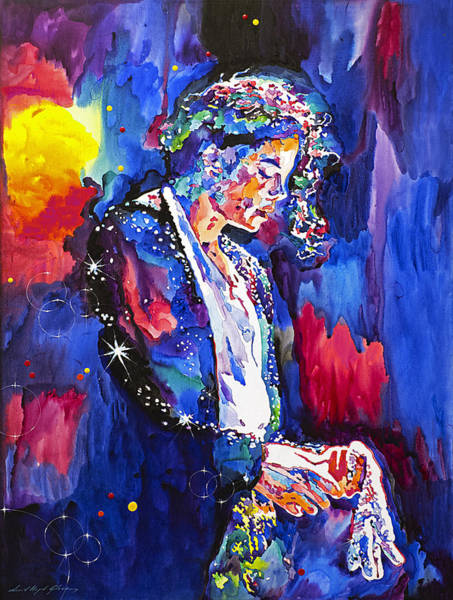 Wall Art - Painting - Mj Final Performance II by David Lloyd Glover