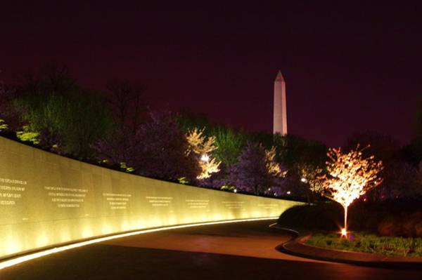 Photograph - Mlk Memorial At Night by Buddy Scott