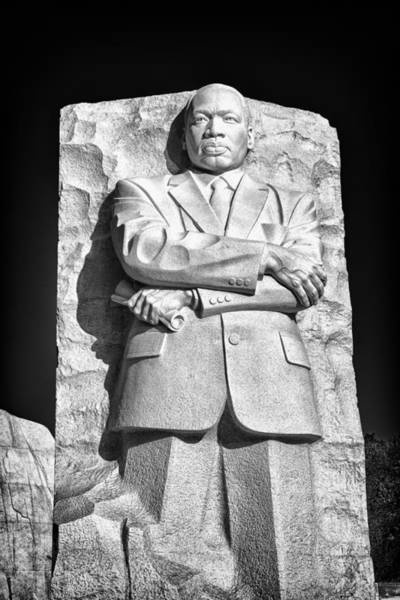 Photograph - Mlk Memorial In Black And White by Val Black Russian Tourchin