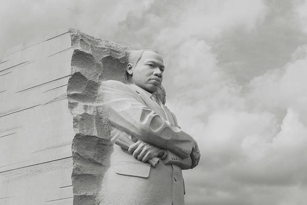 Photograph - Mlk Statue by Brandon Bourdages