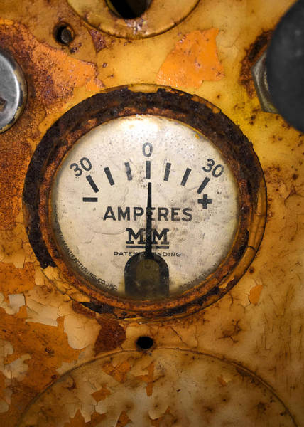 Photograph - Mm Amperes Gauge by Nathan Little