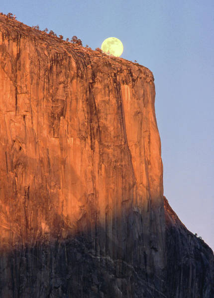 Photograph - Mm6506e, Moonrise Over El Capitan At Sunset by Ed  Cooper Photography